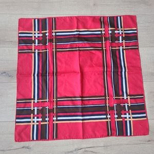 (3/$15) L.L. Berger Red Striped Square Scarf